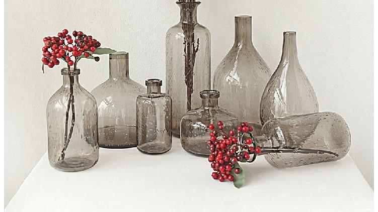 北欧现代简约玻璃花瓶摆件